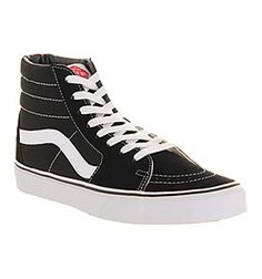 Vans Sk8 Hi Black White Canvas - Hers trainers