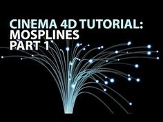 Cinema4D Tutorial: MoSplines Part 1 (Beginner) - YouTube