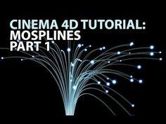 Cinema4D Tutorial: MoSplines Part 1 (Beginner) - YouTube