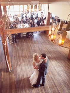 Overhead photo of the bride and groom having their first dance at the Bedford Village Inn... this barn style wedding venue in NH is gorgeous, and super close to Manchester and Concord!  #dreamlovephotography