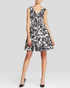 Tracy Reese Dress - Sleeveless Floral Print Flared