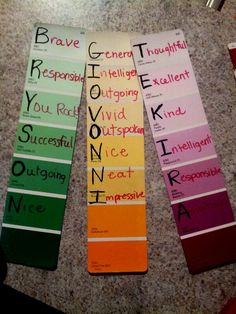 Need a cheap Christmas gift for your students? These are free. Write their names and adjectives to describe them. Laminate & give to students as book marks! (Picture only)