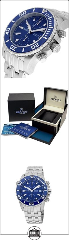 Kronos - K300 Automatic Ceramic Blue 736N2.865 CHR - Reloj de caballero automático, brazalete de acero, color esfera: azul de  ✿ Relojes para hombre - (Lujo) ✿