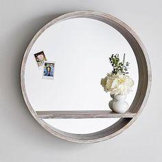 Wood Mirror Shelf #pbteen
