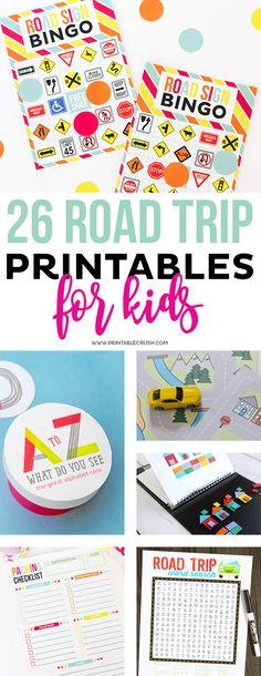 26 Road Trip Printables for Kids