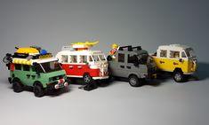 Lego City Sets, Lego Sets, Lego Disney, Lego Van, Lego Poster, Lego Structures, Cool Lego Creations, Image Fun, Lego Design