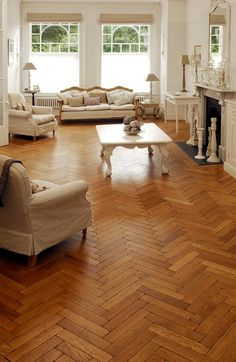 Parquet is our all-time favourite flooring option! Here you see an oak aged pre-oiled parquet which is the highlight of the living room. Designed by The Natural Wood Floor Company Parkay Flooring, Best Wood Flooring, Natural Wood Flooring, Wooden Flooring, Flooring Ideas, Wood Parquet, Parquet Flooring, Hardwood Floors, Real Wood Floors