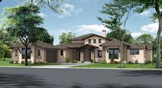 Trinity Floorplan- Hill Country Modern Elevation in Serene Hills, by Ash Creek Homes