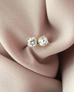Basket Stud Earrings Lab Created Diamondsconflict Free