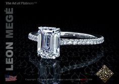 MY PERFECT RING! Emerald Cut Solitaire Engagement Ring on thin delicate band. BEAUTIFUL!