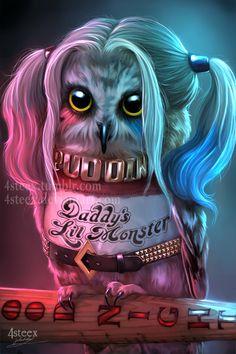 Suicowl Squad - Owly Quinn by 4steex.deviantart.com on @DeviantArt