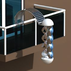 Generate Green Electricity From Your Balcony. When this comes to market, I want to line my deck railing with at least 20 of them.