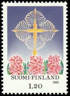 Joulupostimerkki 1985 1/2