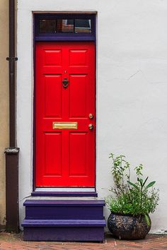 Red Door, Fells Point, Baltimore, MD, USA
