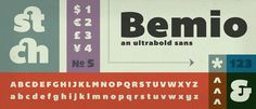 Free Font: Bemio - Ultrabold Sans