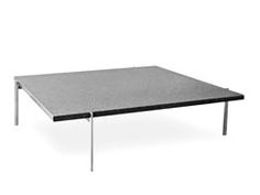 Poul Kjaerholm's PK61 coffee table from 1955 comes with the top in slate, light steel-rolled marble, black granite or glass. The base is stainless steel in typical Kjaerholm design: square, aesthetic and minimal DESIGNER: Poul Kjaerholm, 1956 MATERIALS:  The PK61 base is satin brushed stainless steel The table tops are slate, light steel-rolled marble, black granite or glass  MEASUREMENTS: PK61  Height: 12.6 inch Length: 31.5 inch Width: 31.5 inch  PK61A  Height: 12.6 ...