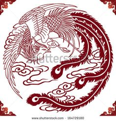 raster of ancient chinese phoenix by flyinglife, via Shutterstock