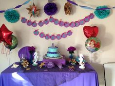 Little mermaid cake table