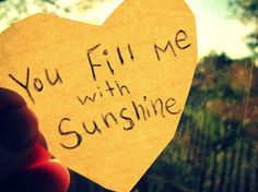 you fill me with sunshine (not a direct link)