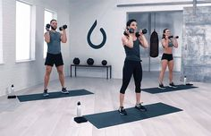 Dumbbell Workout: 5 Moves, 1 Full-Body Burn: Squat to Press Exercise