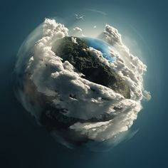 earth in her cradle of clouds - Google Search