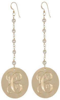 Vintage Monogram Earrings - Monogram Collection by Delicate Raymond #monogram #earrings #initial