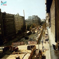 Santier Metrou Bd Magheru Bucharest Romania, Old Pictures, Time Travel, Railroad Tracks, Nostalgia, Memories, Country, Traveling, Buildings