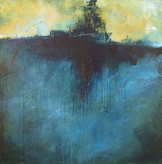 """My favorite piece by Angela Wales Rockett, called """"Equinox"""". It either looks like a battleship at sea or an island with a solitary tree."""