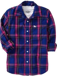 4t navy plaid top boy | Old Navy Boys Plaid Shirts in Multicolor for Men (Best In Show) - Lyst
