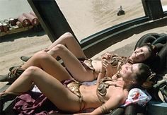 Princess Leia & stunt double looking tasty. Star Wars Pics released by: Chewbacca tweets .