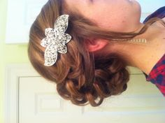 Prom hair curly up-do curly bun