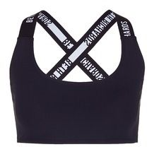 BETH RICHARDS 'Masi' logo elastic strap sports bra