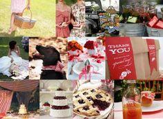Sweet picnic wedding.