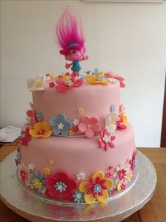 My version of a Princess Poppy Cake!  Amy's 6th Borthday.
