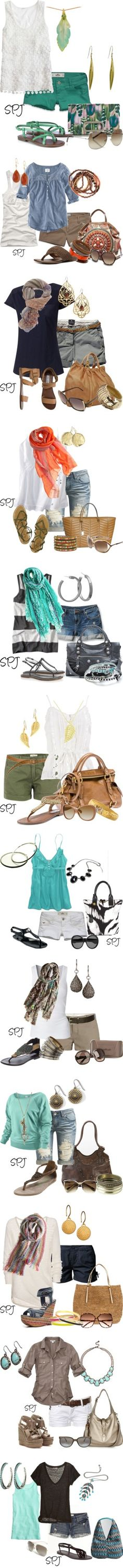 Summer outfits. Soo cute if I wore shorts