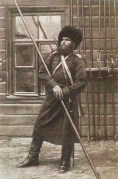 """Уральский казак в """"мундире-татарке""""."""
