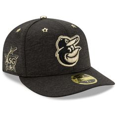 7cae38e642695 Baltimore Orioles New Era 2017 MLB All-Star Game Side Patch Low Profile 59FIFTY  Fitted Hat - Heathered Black