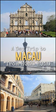 Everything you need to know about doing a day trip to Macau from Hong Kong. Explore the historic streets of this former Portuguese colony. Macau Travel, Asia Travel, Croatia Travel, Hawaii Travel, Italy Travel, Places To Travel, Places To See, Travel Destinations, Travel Route