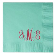 French Blue Personalized Napkins