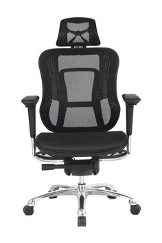 Viva Office High Back Mesh Office Chair with Adjustable Arms, Headrest, Back and Seat