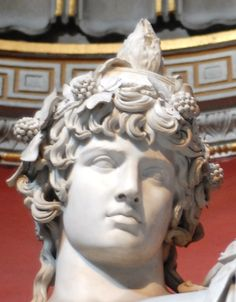 Antinous as Bacchus (Dionysus) Osiris, (colossal) Roman statue (marble), 2nd century AD, (Musei Vaticani, Vatican City)... Divine.