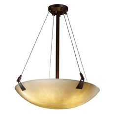 Justice Design Clouds CLD-9642-35 Tapered Clips 24 in. Pendant Bowl Light - Round Bowl Shade