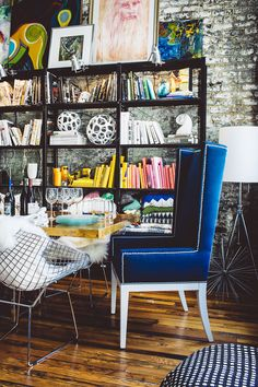 Barri Thompson Interior Design, Birmingham, AL // artistic interior design / artists loft inspo / artists workspace / edgy interior design / modern interiors / eclectic chic / edgy dining room decor / rockstar house inspo