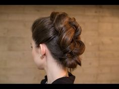 Easy Knotted Faux Mohawk Updo - YouTube