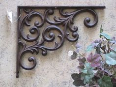 Vintage Style Cast Iron Bracket Scroll Tuscan Wrought Ornate Victorian Shelf for sale online Tuscan Style Homes, Tuscan House, Deco Pizzeria, Tuscan Home Decorating, Large Glass Jars, Iron Stair Railing, Silver Candlesticks, Tuscan Design, Shabby