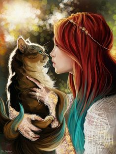 Gary & me woman holding cat art Dark Anime, Dibujos Pin Up, Photo Portrait, Beautiful Fantasy Art, Beautiful Images, Anime Fantasy, Anime Scenery, Cute Characters, Anime Art Girl