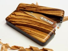 Wood Wallet and Business Card Case - ready to ship! #wallet #perfect45degree  #cardcase