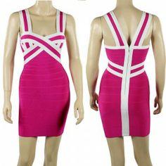 V-neck sling sleeveless bandage dress