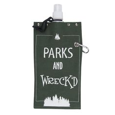 "Reward ""Parks And Wreck'd"" Canvas Flask, Ovrfl Oth"