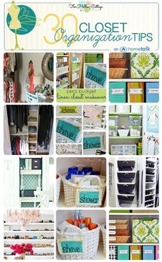 Great closet organization tips.